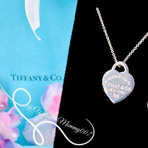 NWOT T&Co. Return to Tiffany Heart Tag Pendant, Sm